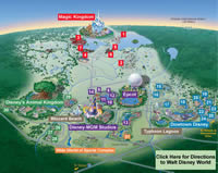 Walt Disney World Resort Property Map