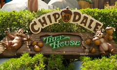 Chip 'n' Dale Treehouse Sign