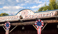 Frontierland Shootin' Exposition Sign