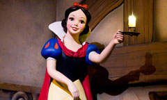 Snow White Holding a Candle in Snow White's Scary Adventures