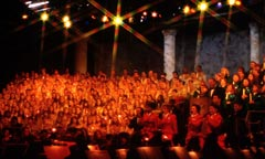 A Children's Choir Performs at the Candlelight Processional