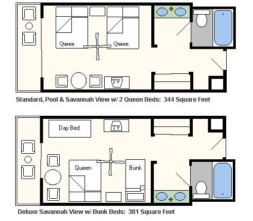 Room Layout - Animal Kindgom Lodge