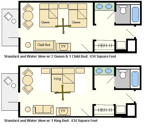 Room Layout - BoardWalk Inn Resort