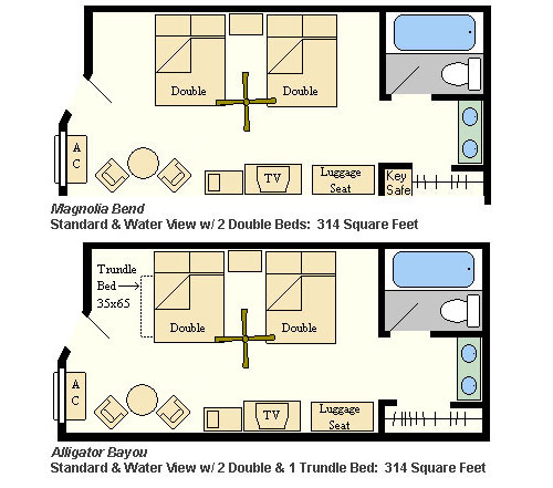 Room Layout - Port Orleans Riverside Resort