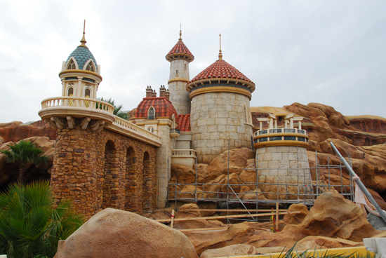 Prince Eric's Castle in the New Fantasyland
