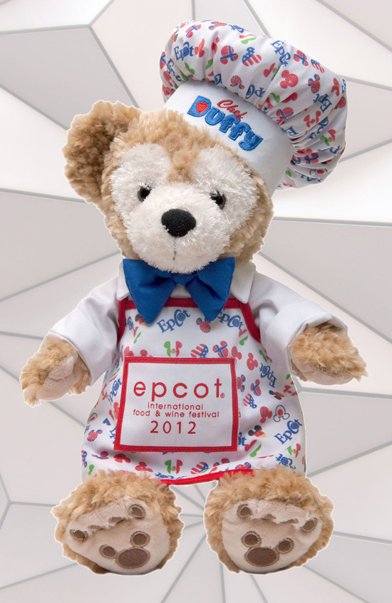 Duffy dressed for Epcot International Food & Wine Festival.