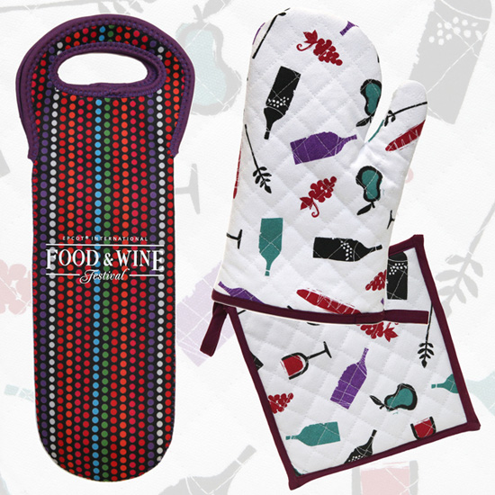 Food & Wine Festival oven mitt and pot holder