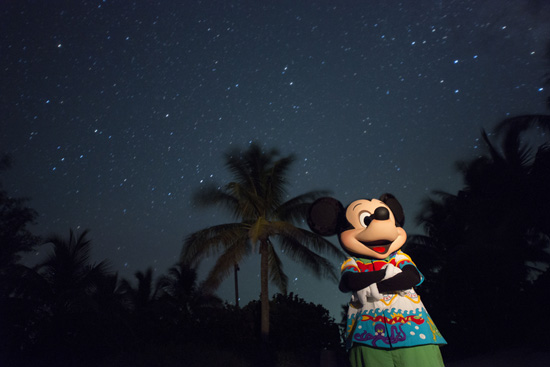 Mickey Mouse Disney Castaway Cay at Night