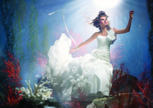 Ariel 2012 Disney Bridal Gown Collection
