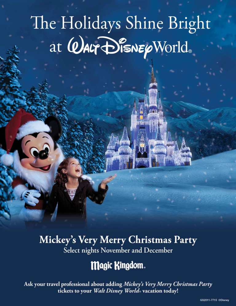 Holidays at the Walt Disney World Resort
