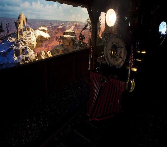 Grand Canyon Diorama and Primeval World along the Disneyland Railroad
