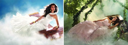 Jasmine and Sleeping Beauty 2012 Disney Bridal/Wedding Gown Collection