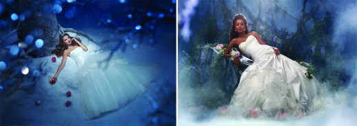Snow White and Tiana Disney Bridal Gowns