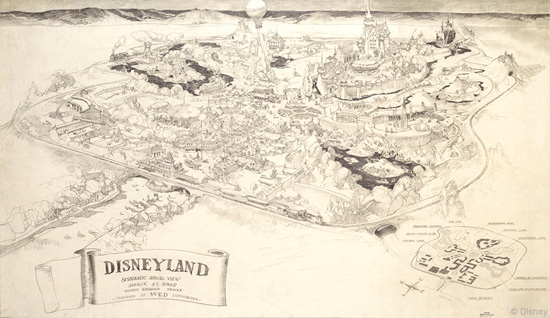 original concept drawings for Disneyland