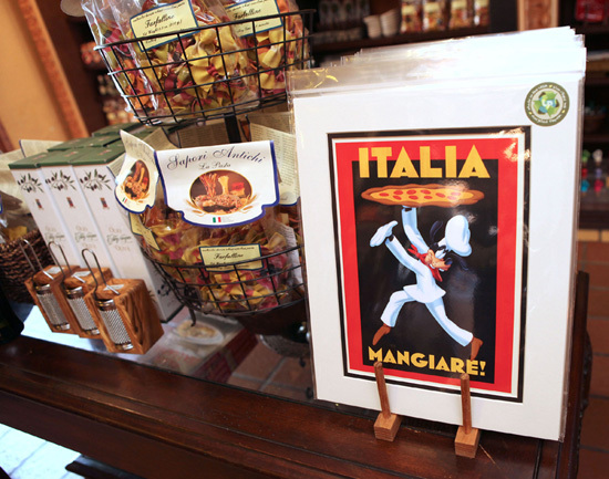 Romantic Travel Posters Inspired New Merchandise at Italy Pavilion in Epcot
