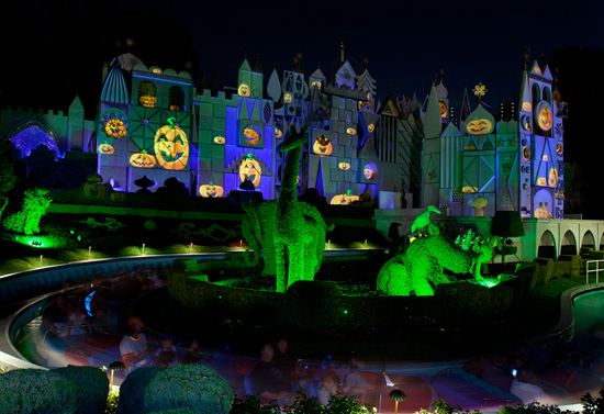 """it's a small world"" during Mickey's Halloween Party at Disneyland park"