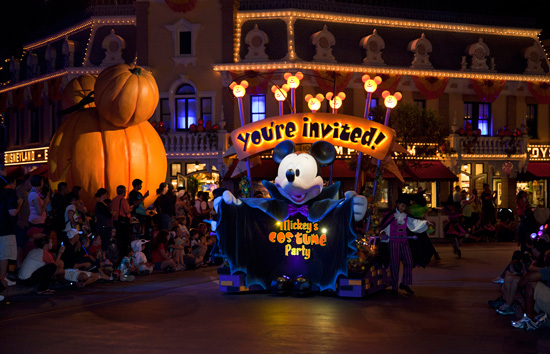 Mickey's Costume Party Cavalcade during Mickey's Halloween Party at Disneyland park