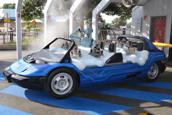 """The New Test Track """"SimCar"""" on Display at Epcot"""