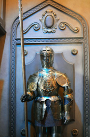 Suits of Armor at Be Our Guest Restaurant