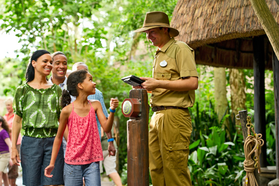 Guests use MyMagic+ at Disney Animal Kingdom in Walt Disney World