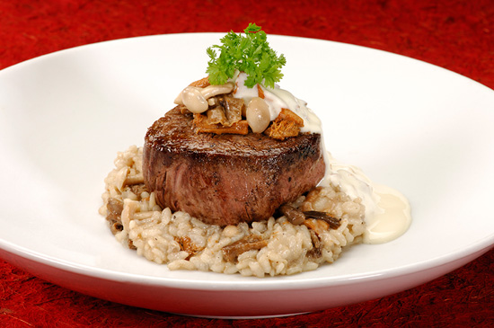 The buttery filet mignon at Le Cellier Steakhouse