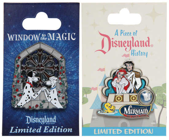 new limited edition pin collections coming to Disneyland and Walt Disney World Resorts