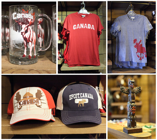 "some items give a nod to the 360-degree film at the pavilion, ""O Canada"