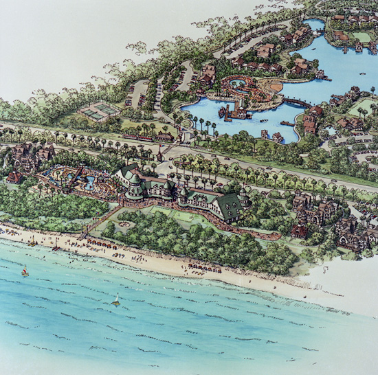 early rendering of Disney's Vero Beach resort