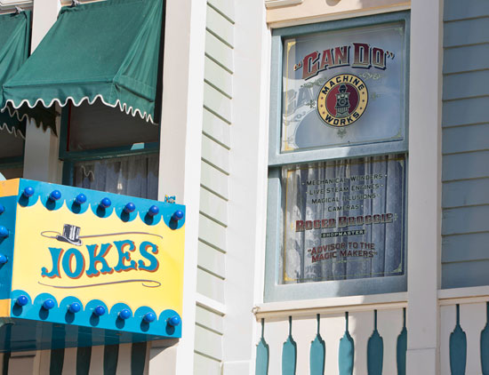 """Broggie was honored with a Window on Main Street, U.S.A. , at Disneyland park on March 30, 2007. His window is above the Magic Shop and fittingly refers to him as """"Roger Broggie, Shopmaster"""" and """"Advisor to the Magic Makers."""""""