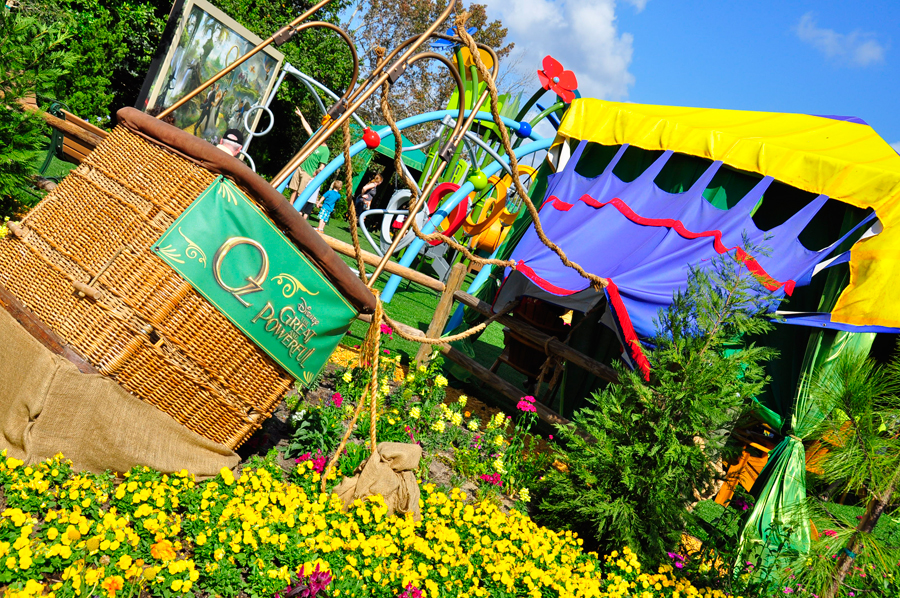 Now through May 19, 2013, The Land of Oz Garden is just part of the overall new excitement at the Epcot International Flower & Garden Festival.