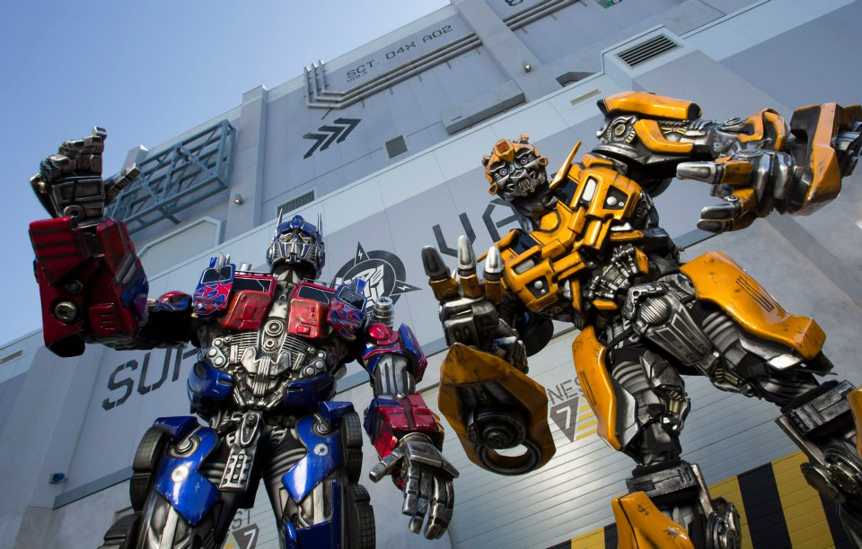 Optimus Prime, leader of the Autobots, and Bumblebee are now making in-park appearances at Universal Studios Florida.