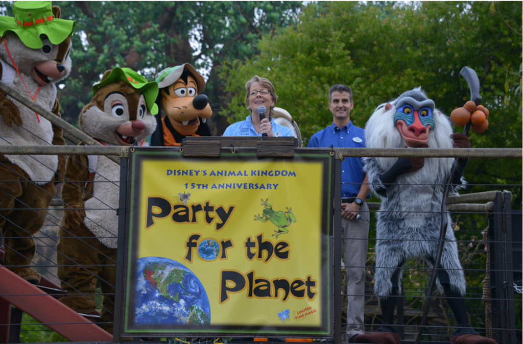 Disney's Animal Kingdom, the fourth theme park built at the Walt Disney World Resort, will celebrate its 15th anniversary today, April 22, which also happens to be Earth Day.