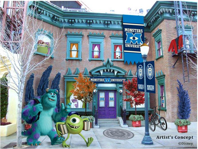 "It's shaping up to be a Monstrous Summer at Disney Parks, with a colossal lineup of unforgettable experiences, including entertainment enhancements celebrating the newest Disney•Pixar animated feature, ""Monsters University."""