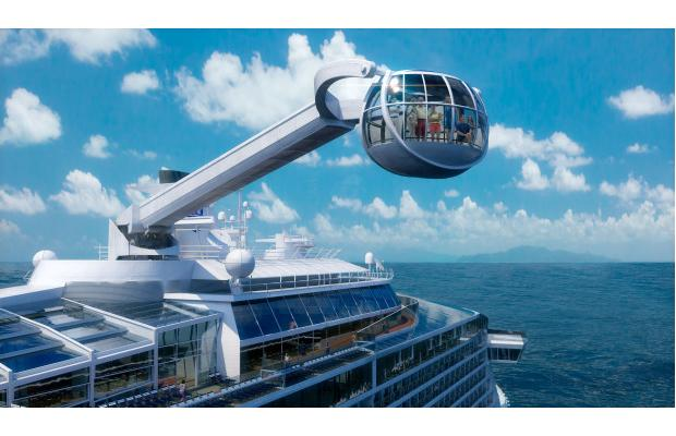 Quantum of the Seas North Star Arm, an observation capsule on a movable arm that will offer a bird's-eye view from 300 feet above the water. Royal Caribbean Cruise Lines