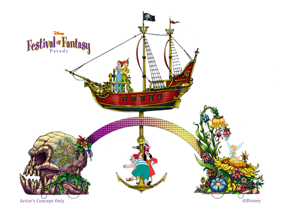 new procession, the Disney Festival of Fantasy Parade, will march into Magic Kingdom Park in spring 2014.