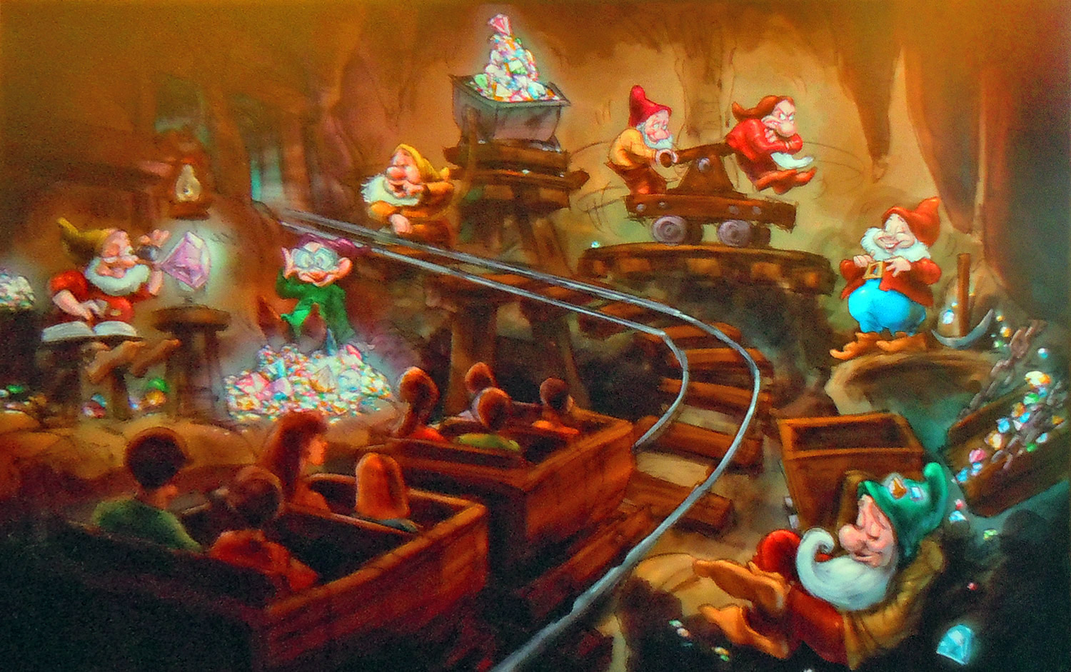 Walt Disney Imagineering just shared a new video with us that offers up a look inside the two attractions in New Fantasyland that are still yet to debut: Princess Fairytale Hall and Seven Dwarfs Mine Train.
