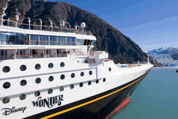 In 2013 and 2014, Disney Cruise Line® will offer new Alaskan itineraries departing from Vancouver. Disney Wonder® will sail 7-night cruises from Vancouver to Tracy Arm, Skagway, Juneau and Ketchikan, Alaska.