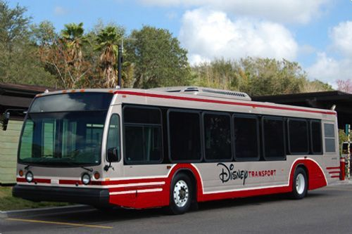 Have you already heard the stories (and seen the pictures) of Disney's new paint scheme for the WDW resort buses?  It is a 'red and silver' style that has been applied to two buses already, according to our bus driver.