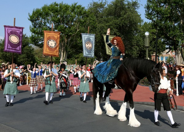 "Merida, the heroine from the Disney●Pixar film, ""Brave,"" was officially welcomed into Disney royalty earlier today in a ceremony held at Cinderella Castle at Magic Kingdom Park."