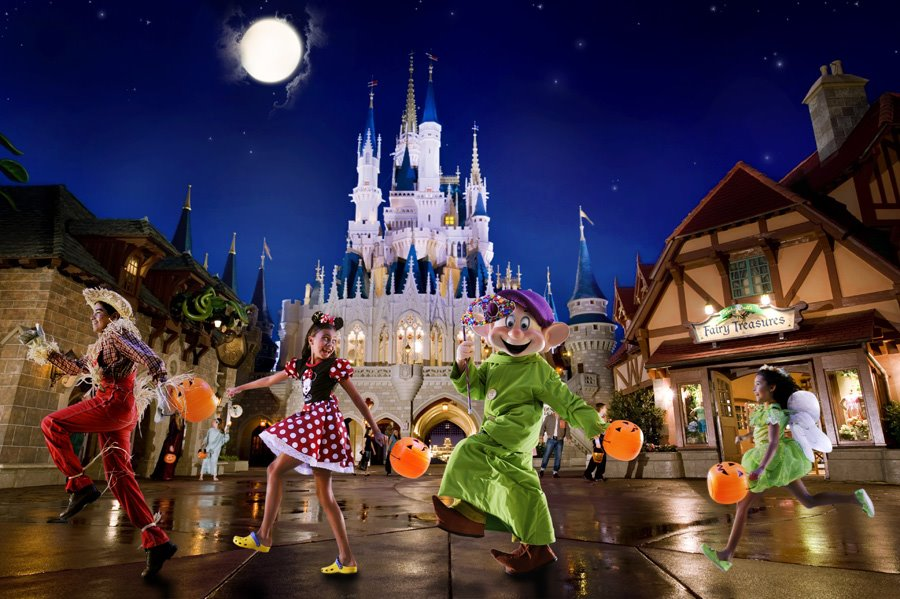 During Mickey's Not-So-Scary Halloween Party, Guests of all ages are encouraged to dress up in their favorite Halloween costumes. Even better, you can collect delicious candy as you trick-or-treat around Magic Kingdom theme park.