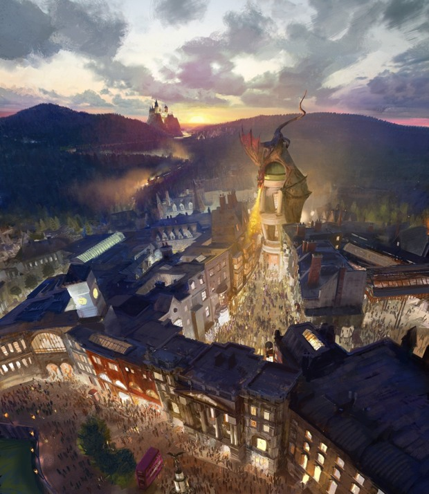 Building on the global phenomenon that is The Wizarding World of Harry Potter, Universal Orlando Resort and Warner Bros. Entertainment today announced an expansion of historic proportion with the entirely new themed environment, The Wizarding World of Harry Potter – Diagon Alley.