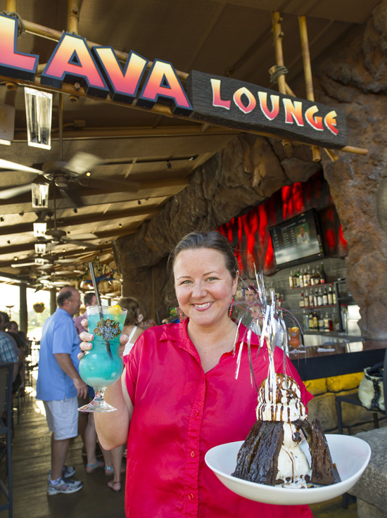 Lava Lounge at Rainforest Café in Downtown Disney