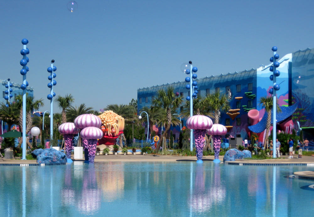 Big Blue at Disney's Art of Animation Resort, one of the largest Disney has ever built for a resort, including an underwater sound system