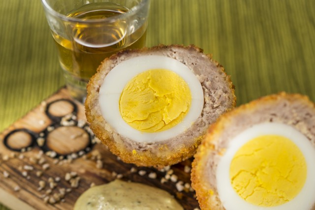 Scotch Eggs with Mustard Sauce