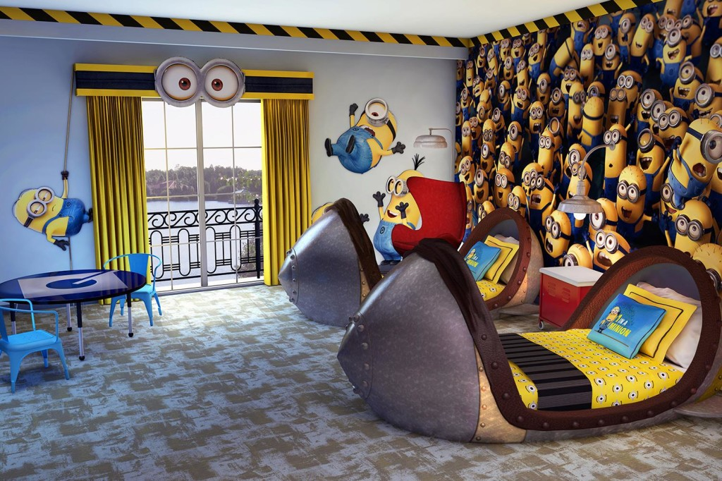 Loews Portofino Bay Hotel at Universal Orlando invites you to experience the world of Despicable Me in its newly-renovated kid's suites.