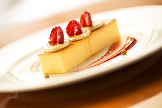 Disney Cruise Line's De La Costa Cream Cheese Flan