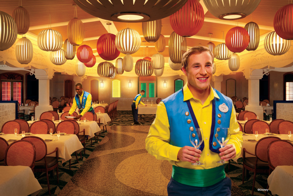"When the transformed Disney Magic sets sail this October, guests will be treated to a brand-new dining experience at Carioca's, a restaurant named after Donald Duck's parrot pal in ""The Three Caballeros,"""