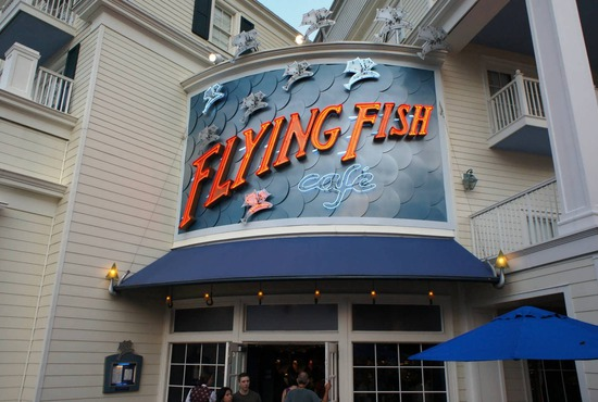Dining at the Flying Fish at Disney's Boarkwalk Resort