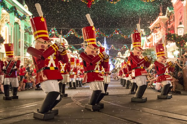 Toy Soldiers Play Down Main Street USA